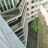 06 外観 東側 デッキ広場(見下げ)